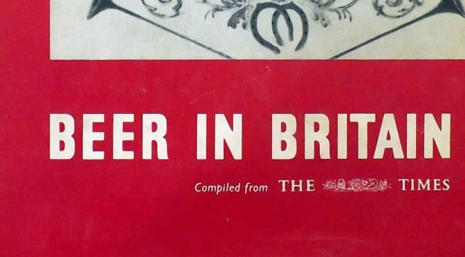 Detail from the cover of Beer in Britain, 1960.