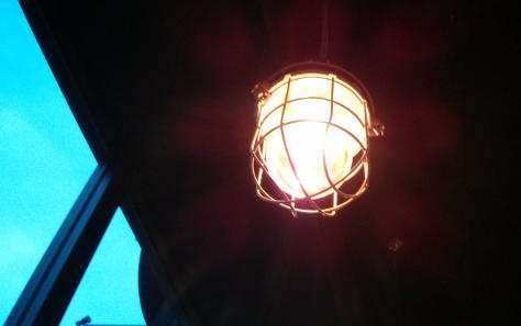 Vintage-style lightbulb pictured in BrewDog, Sheffield.