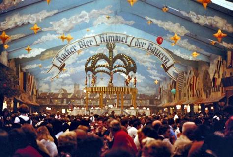 West Germany, München, Oktoberfest, Bier Tent, September 1978, by Barbara Ann Spengler, from Flickr under Creative Commons.