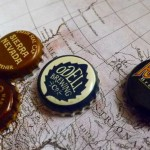American porter caps on a historic map of the US.