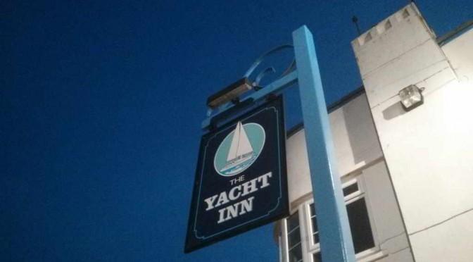 The Yacht Inn on a balmy September evening.