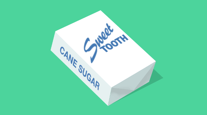 Illustration: Sweet Tooth brand can sugar cube.