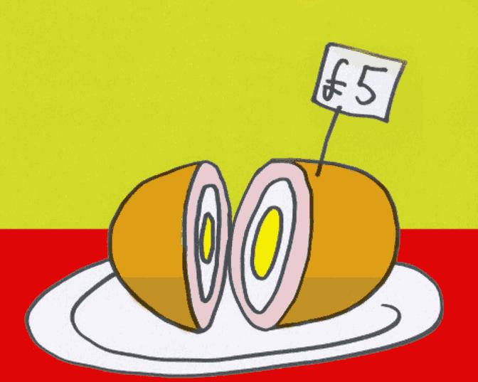 Expensive scotch egg.