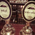 Penzance Brewing Company pump clips, including one for Mild.