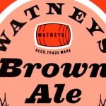 Watney's Brown Ale label (detail).