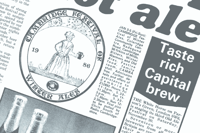 What's Brewing, December 1986, on old ales and winter beer.