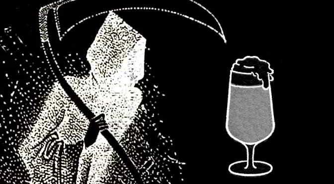Death Desires a Beer. (Collage.)