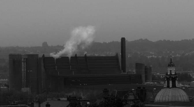 Carlsberg, Northampton. (Detail from 'Grey Day' by Sarah Horrigan, via Flickr, under Creative Commons.)