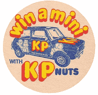 KP Nuts beer mat, 1970s.