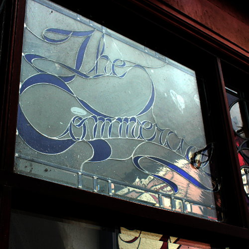 Stained glass at the Commercial.