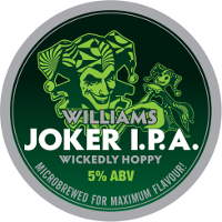 Label for Williams Bros Joker IPA.
