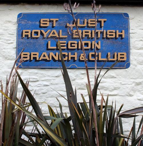 Royal British Legion sign.