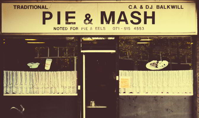 Pie & Mash shop, East London.