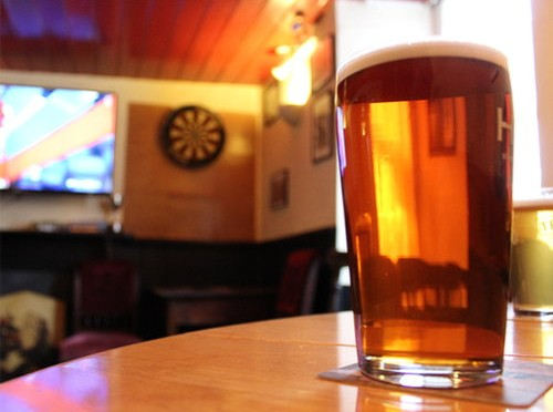 A pint of Cornish Best at the Star Inn.