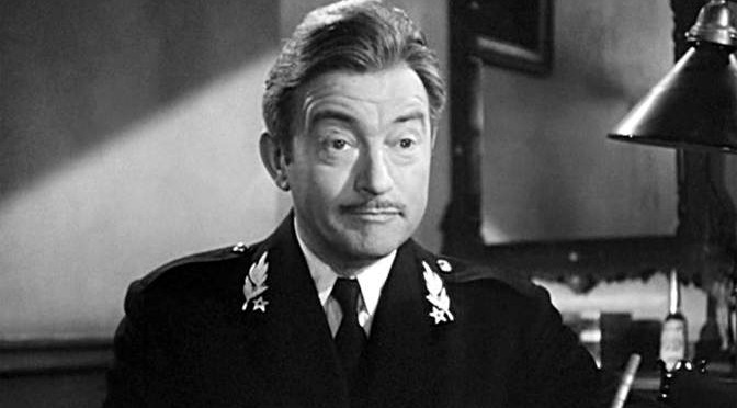 Claude Raines as Renault in Casablanca (1942).