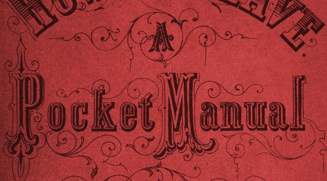"""A pocket manual"""