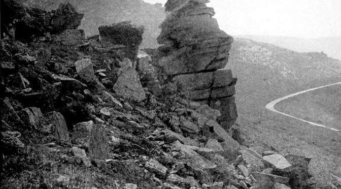 Cheesewring, Valley of the Rocks, c.1911.