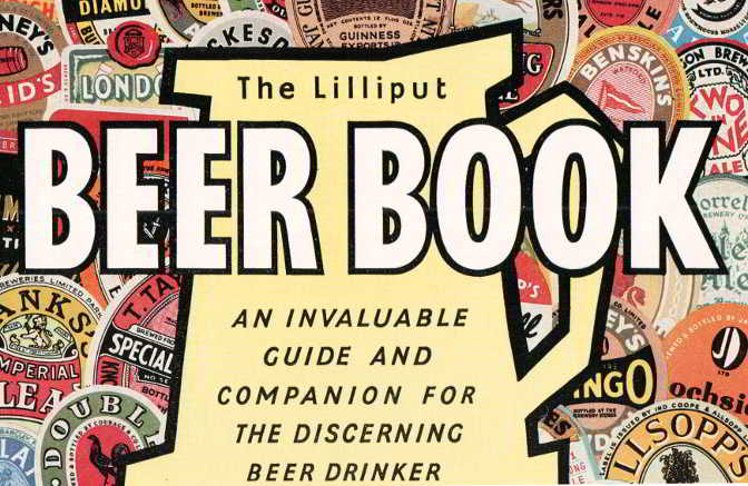 Detail from the cover of The Lilliput Beer Book, 1956.