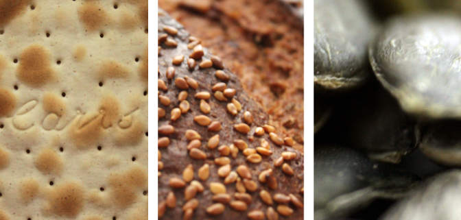 Crackers, bread and sunflower seeds -- malt-type flavours.