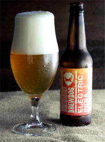 BrewDog Electric India in the glass.