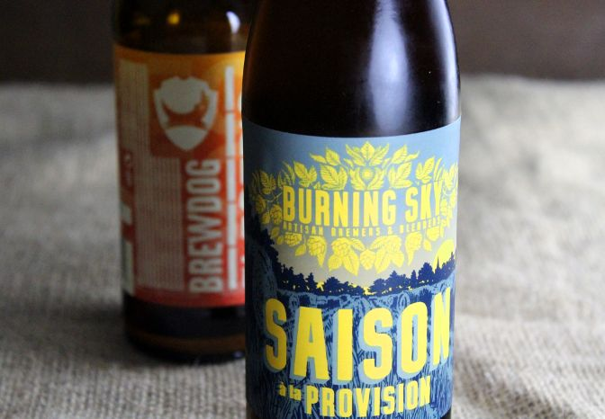 Brewdog Electric India and Burning Sky Saison a la Provision.