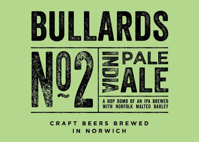 Bullard's IPA ('Craft Beer Brewed in Norwich').