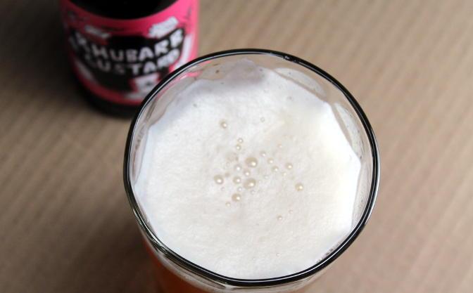 Mad Hatter Rhubarb & Custard saison.