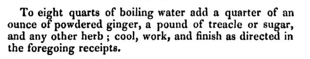 Small Beer recipe, 1827.