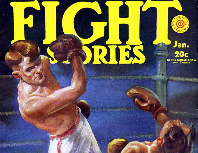 """Fight Stories"" -- detail from pulp cover, 1931."