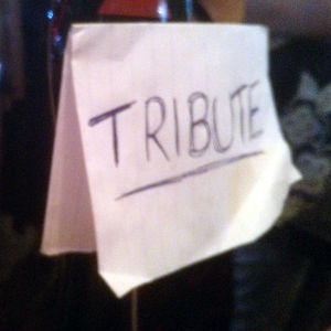 Hand-drawn Tribute pump-clip.