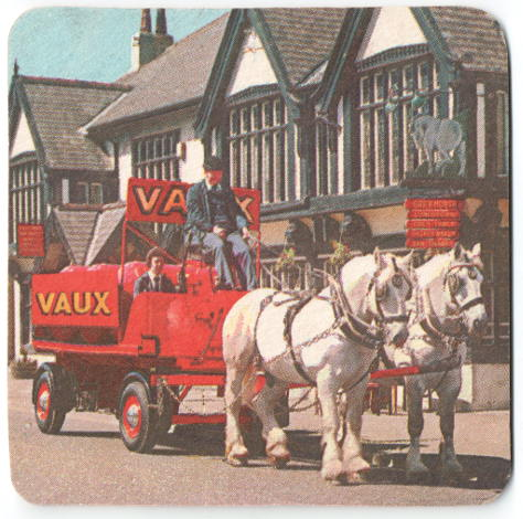 Horse-drawn Vaux dray, bright red, 1970s.
