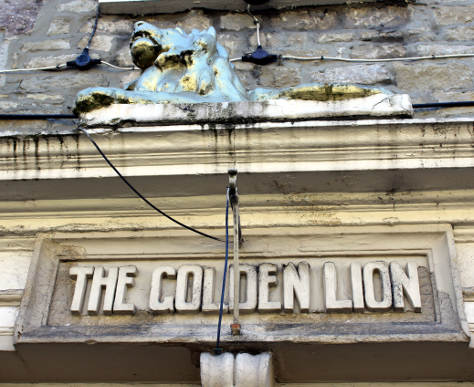 Doorway entrance to the Golden Lion.