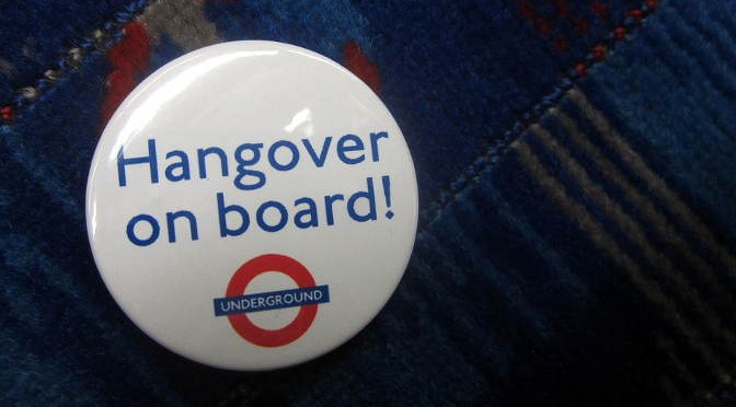 'Hangover on Board Badge' by Annie Mole, from Flickr under Creative Commons.