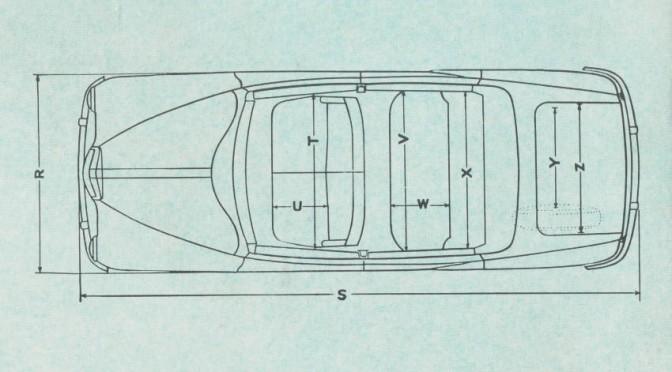 MG Magnette, blueprint plan.