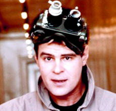 Ray Stantz from Ghostbusters in 'ecto goggles'.