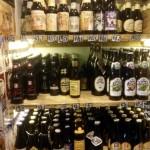 Bottles at John's Wine in St Ives.