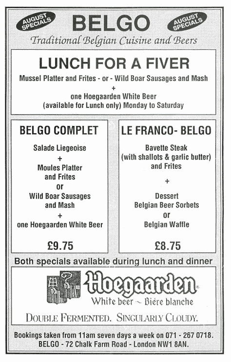 Belgo advert from 1993.