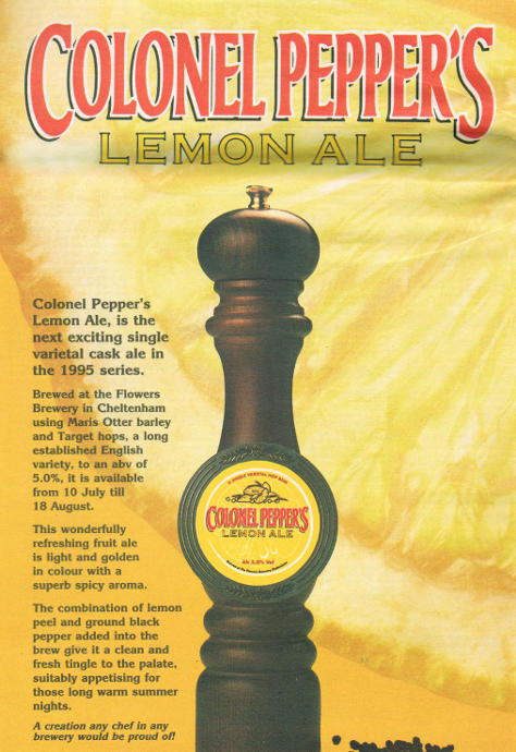 Whitbread (Flower's) advert, 1995: Colonel Pepper's Lemon Ale.