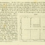 'Small inn', Interior plan and key.