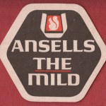 """Beer mat: """"Ansell's -- THE Mild""""."""