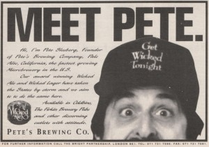 Pete's Wicked Ale ad, 1994.