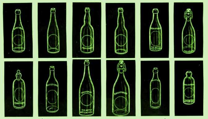 Various bottles from a 1910 advertisement.