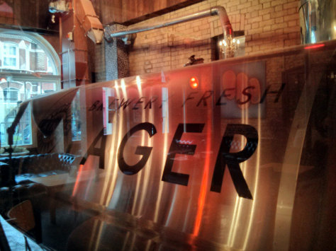 Lager tank at the Four Thieves.