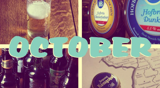 'OCTOBER' with a montage of pictures from the last month.