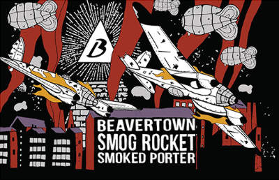 Beavertown Smog Rocket design.