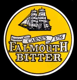 Carne's Falmouth Bitter beer mat, 1980s.