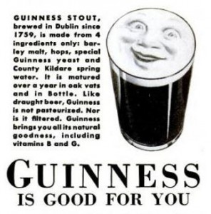 Guinness smile advert, 1939.