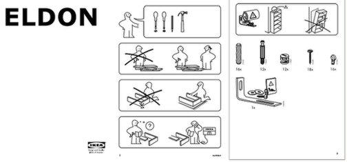 IKEA construction instructions.
