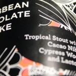 Siren Caribbean Chocolate Cake (label).