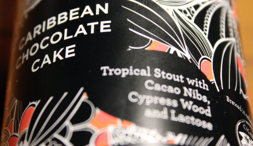 Siren Caribbean Chocolate Cake (label).